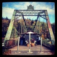 Photo taken at Denniston Hill Truss Bridge by Anthony C. on 10/6/2012
