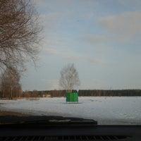 Photo taken at Ozolnieku dīķis by vaiva r. on 3/24/2013