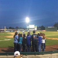 Photo taken at TicketReturn.com Field at Pelicans Ballpark by Matt K. on 4/14/2015