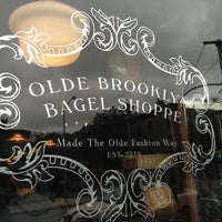 Photo taken at Olde Brooklyn Bagel Shoppe by Pete on 9/29/2012