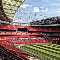 Photo taken at Wembley Stadium by Arya S. on 7/22/2013