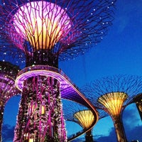 Photo taken at Gardens by the Bay by Lorie on 5/4/2013