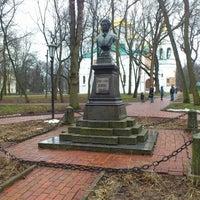 Photo taken at Памятник Пушкину А.С. by Stanislav K. on 2/23/2014