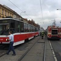 Photo taken at Pionýrská (tram, bus) by Petr B. on 11/11/2016