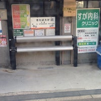 Photo taken at 上町線 北畠駅 by しぃちゃん on 1/3/2014