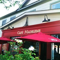 Photo taken at Cafe Madeleine by John D. on 4/24/2013