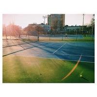 Photo taken at Columbus Avenue Tennis Courts by Kibbee on 4/2/2014