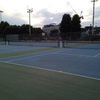 Photo taken at Columbus Avenue Tennis Courts by Kibbee on 8/19/2013