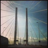 Photo taken at The Queen Elizabeth II Bridge by Darren W. on 2/1/2013