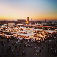 Photo taken at Place Jemaa el-Fna by Betty K. on 6/1/2013