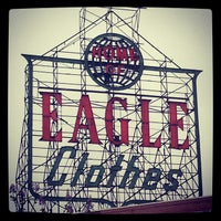 Photo taken at Home Of Eagle Clothes Sign by David K. on 5/19/2013