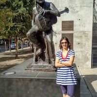 Photo taken at Willie Nelson Statue by Ilan E. on 10/30/2016