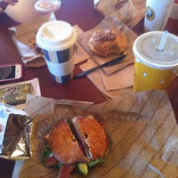 Photo taken at Einstein Bros Bagels by Ana V. on 10/20/2013