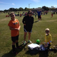 Photo taken at St. John's Soccer Playfield by Brian L. on 9/14/2013