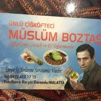 Photo taken at Meşhur Çiğ Köfteci Müslüm Boztaş by Serkan Y. on 7/22/2016