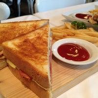 Photo taken at Greyhound Café by tayo_jang on 5/18/2013