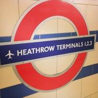 Photo taken at Heathrow Airport Terminals 1, 2 & 3 London Underground Station by Redha A. on 5/25/2013