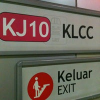 Photo taken at RapidKL KLCC (KJ10) LRT Station by Rumme L. on 10/31/2013