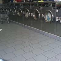 Photo taken at Brooklyn Bubbles Laundromat by Felipe F. on 10/5/2011