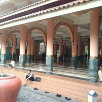 Photo taken at Masjid Kampus UGM by Budhie C. on 4/27/2013