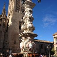 Photo taken at Virgen de los Reyes Square by John T. on 11/18/2012