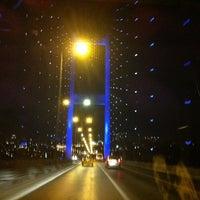 Photo taken at Bosphorus Bridge by Rıdvan K. on 7/26/2013