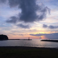 Photo taken at 宇久須海岸 by uni m. on 8/14/2014