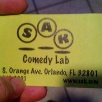 Photo taken at SAK Comedy Lab by Jessica C. on 9/21/2012