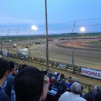 Photo taken at Belleville Highbanks Raceway by Kevin C. on 8/4/2013
