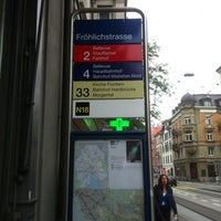 Photo taken at VBZ Fröhlichstrasse by Cyberntz on 9/24/2012