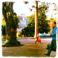 Photo taken at Plaza de la Independencia by Alma on 11/17/2012
