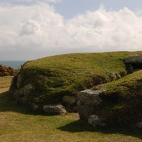 Photo taken at Porth Hellick Burial Chamber by Andrew M. on 4/27/2013