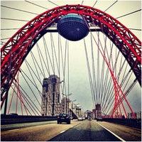 Photo taken at Zhivopisny Bridge by Маша В. on 4/28/2013