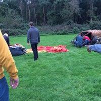 Photo taken at Up Ballooning Opstijgplaats by Kaat R. on 10/5/2014