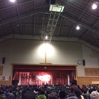 Photo taken at 女川中学校体育館 by sonical405 on 3/16/2014