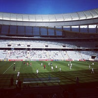 Photo taken at Cape Town Stadium by Simon L. on 11/11/2012