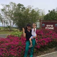 Photo taken at Dye Fore Golf Course by Jazmin on 2/18/2014