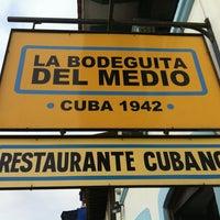 Photo taken at La Bodeguita del Medio by Fa on 6/18/2013