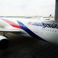 Photo taken at MAS Hangar 6 AMU Line 4 by Huzaifi H. on 10/10/2012