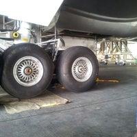 Photo taken at MAS Hangar 6 AMU Line 4 by Huzaifi H. on 10/12/2012