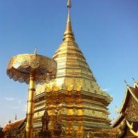 Photo taken at Wat Phrathat Doi Suthep by Belle O. on 1/15/2013