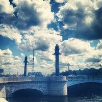 Photo taken at Ушаковский мост by Irene on 7/2/2013