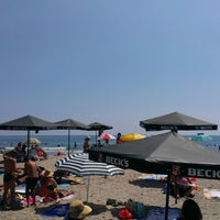 Photo taken at Централен Плаж Бургас (Burgas Central Beach) by Iliyana Z. on 7/19/2013