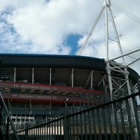 Photo taken at Principality Stadium by Jeremy N. on 3/30/2013