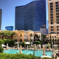 Photo taken at The Pool At Bellagio by Derrick on 10/7/2012
