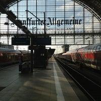 Photo taken at Frankfurt (Main) Hauptbahnhof by Ahmet İhsan K. on 1/11/2013