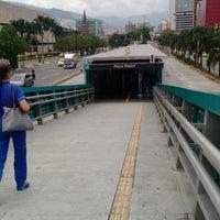 Photo taken at Metroplús - Estación Plaza Mayor by Andres M. on 2/13/2015
