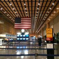 Photo taken at Boston Logan International Airport (BOS) by Mustafa Ç. on 9/24/2013