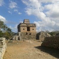 Photo taken at Zona Arqueológica de Dzibilchaltún by Laura L. on 12/29/2012