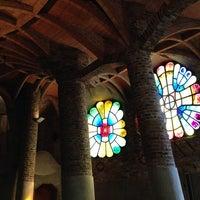 Photo taken at Cripta Gaudí by Diana on 10/13/2013
